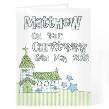 Blue Church Card